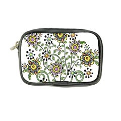 Frame Flower Floral Sun Purple Yellow Green Coin Purse