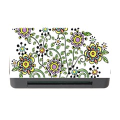Frame Flower Floral Sun Purple Yellow Green Memory Card Reader with CF