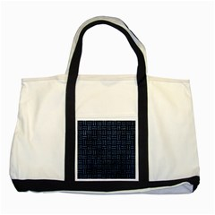 Woven1 Black Marble & Blue Stone Two Tone Tote Bag