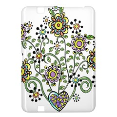 Frame Flower Floral Sun Purple Yellow Green Kindle Fire HD 8.9
