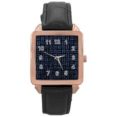 WOV1 BK-MRBL BL-STONE Rose Gold Leather Watch