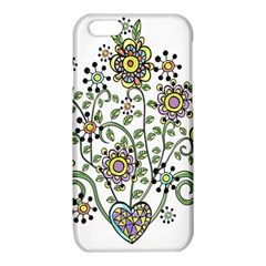 Frame Flower Floral Sun Purple Yellow Green iPhone 6/6S TPU Case