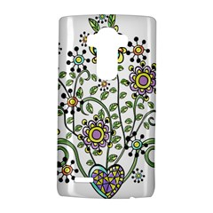 Frame Flower Floral Sun Purple Yellow Green LG G4 Hardshell Case