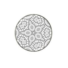Scope Random Black White Hat Clip Ball Marker (4 Pack)
