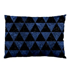 Triangle3 Black Marble & Blue Stone Pillow Case