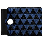 TRIANGLE3 BLACK MARBLE & BLUE STONE Kindle Fire HD Flip 360 Case Front