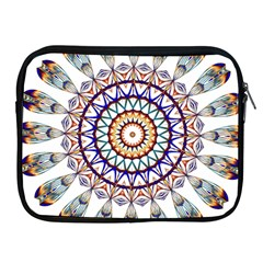 Circle Star Rainbow Color Blue Gold Prismatic Mandala Line Art Apple iPad 2/3/4 Zipper Cases