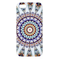 Circle Star Rainbow Color Blue Gold Prismatic Mandala Line Art iPhone 5S/ SE Premium Hardshell Case