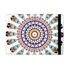 Circle Star Rainbow Color Blue Gold Prismatic Mandala Line Art iPad Mini 2 Flip Cases
