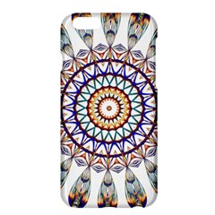 Circle Star Rainbow Color Blue Gold Prismatic Mandala Line Art Apple iPhone 6 Plus/6S Plus Hardshell Case