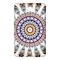 Circle Star Rainbow Color Blue Gold Prismatic Mandala Line Art Samsung Galaxy Tab 4 (8 ) Hardshell Case