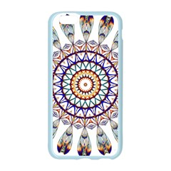 Circle Star Rainbow Color Blue Gold Prismatic Mandala Line Art Apple Seamless iPhone 6/6S Case (Color)