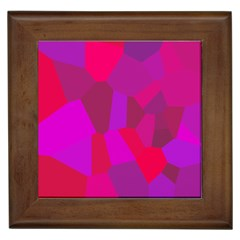 Voronoi Pink Purple Framed Tiles