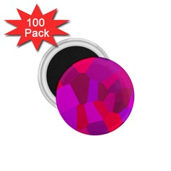 Voronoi Pink Purple 1 75  Magnets (100 Pack)