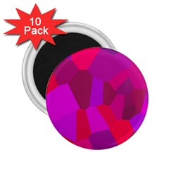 Voronoi Pink Purple 2.25  Magnets (10 pack)
