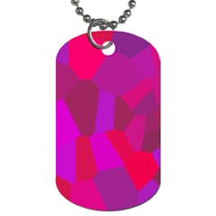Voronoi Pink Purple Dog Tag (Two Sides)
