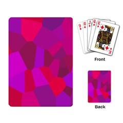 Voronoi Pink Purple Playing Card