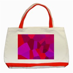 Voronoi Pink Purple Classic Tote Bag (Red)