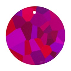 Voronoi Pink Purple Round Ornament (Two Sides)