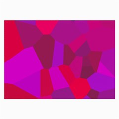 Voronoi Pink Purple Large Glasses Cloth (2 Side)
