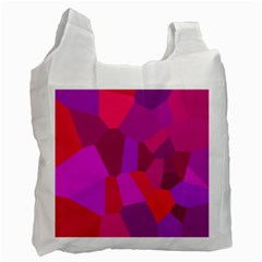 Voronoi Pink Purple Recycle Bag (One Side)