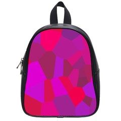 Voronoi Pink Purple School Bags (Small)
