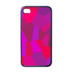 Voronoi Pink Purple Apple iPhone 4 Case (Black)