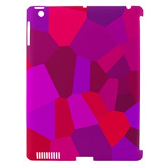 Voronoi Pink Purple Apple iPad 3/4 Hardshell Case (Compatible with Smart Cover)
