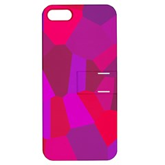 Voronoi Pink Purple Apple iPhone 5 Hardshell Case with Stand