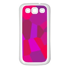 Voronoi Pink Purple Samsung Galaxy S3 Back Case (white)