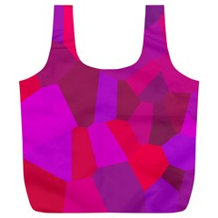 Voronoi Pink Purple Full Print Recycle Bags (L)