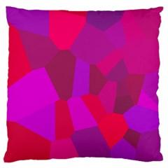 Voronoi Pink Purple Large Flano Cushion Case (One Side)