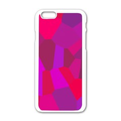Voronoi Pink Purple Apple iPhone 6/6S White Enamel Case