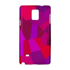 Voronoi Pink Purple Samsung Galaxy Note 4 Hardshell Case