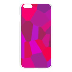 Voronoi Pink Purple Apple Seamless iPhone 6 Plus/6S Plus Case (Transparent)