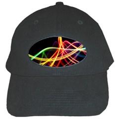 Vortex Rainbow Twisting Light Blurs Green Orange Green Pink Purple Black Cap