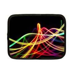 Vortex Rainbow Twisting Light Blurs Green Orange Green Pink Purple Netbook Case (Small)