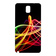 Vortex Rainbow Twisting Light Blurs Green Orange Green Pink Purple Samsung Galaxy Note 3 N9005 Hardshell Back Case