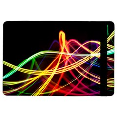 Vortex Rainbow Twisting Light Blurs Green Orange Green Pink Purple iPad Air 2 Flip