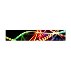 Vortex Rainbow Twisting Light Blurs Green Orange Green Pink Purple Flano Scarf (Mini)
