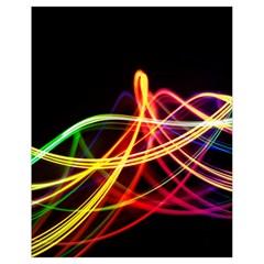 Vortex Rainbow Twisting Light Blurs Green Orange Green Pink Purple Drawstring Bag (small)