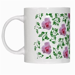 Rose Flower Pink Leaf Green White Mugs