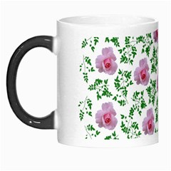 Rose Flower Pink Leaf Green Morph Mugs