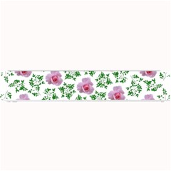 Rose Flower Pink Leaf Green Small Bar Mats