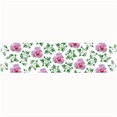 Rose Flower Pink Leaf Green Large Bar Mats