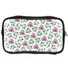 Rose Flower Pink Leaf Green Toiletries Bags 2-Side