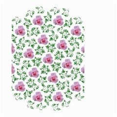 Rose Flower Pink Leaf Green Small Garden Flag (Two Sides)