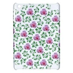 Rose Flower Pink Leaf Green Apple iPad Mini Hardshell Case