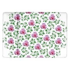 Rose Flower Pink Leaf Green Samsung Galaxy Tab 10.1  P7500 Flip Case