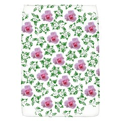 Rose Flower Pink Leaf Green Flap Covers (S)